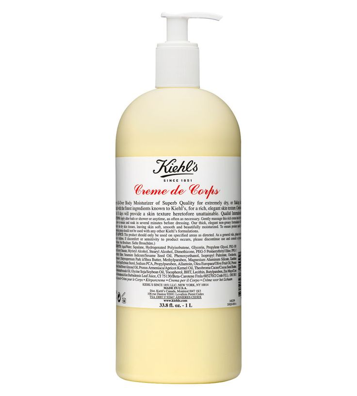 Creme De Corps  Rich, hydrating body moisturizer. A Kiehl's favorite for over four decades!