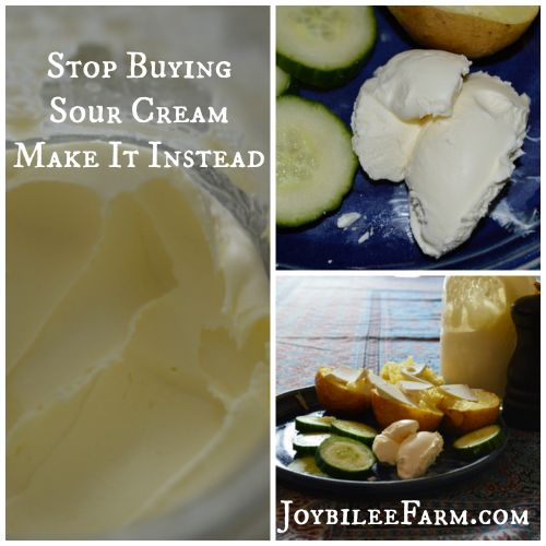 How to make sour cream -- Joybilee Farm  ... wow this stuff looks like butter and sounds amazing!!! cant wait to try it!  #Amazmerizing