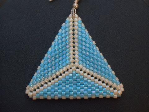 Tutorial triangolo Peyote: come fare orecchini con perline 1/2 (Tecnica Peyote) | Tutorial Perline - YouTube