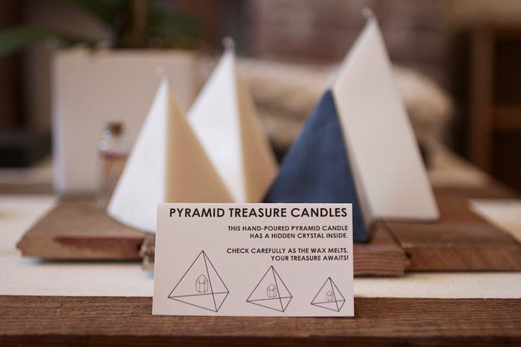 "Wasted Effort ""Hidden Treasure"" pyramid candle. #handcrafted #candle #pyramid #treasure"