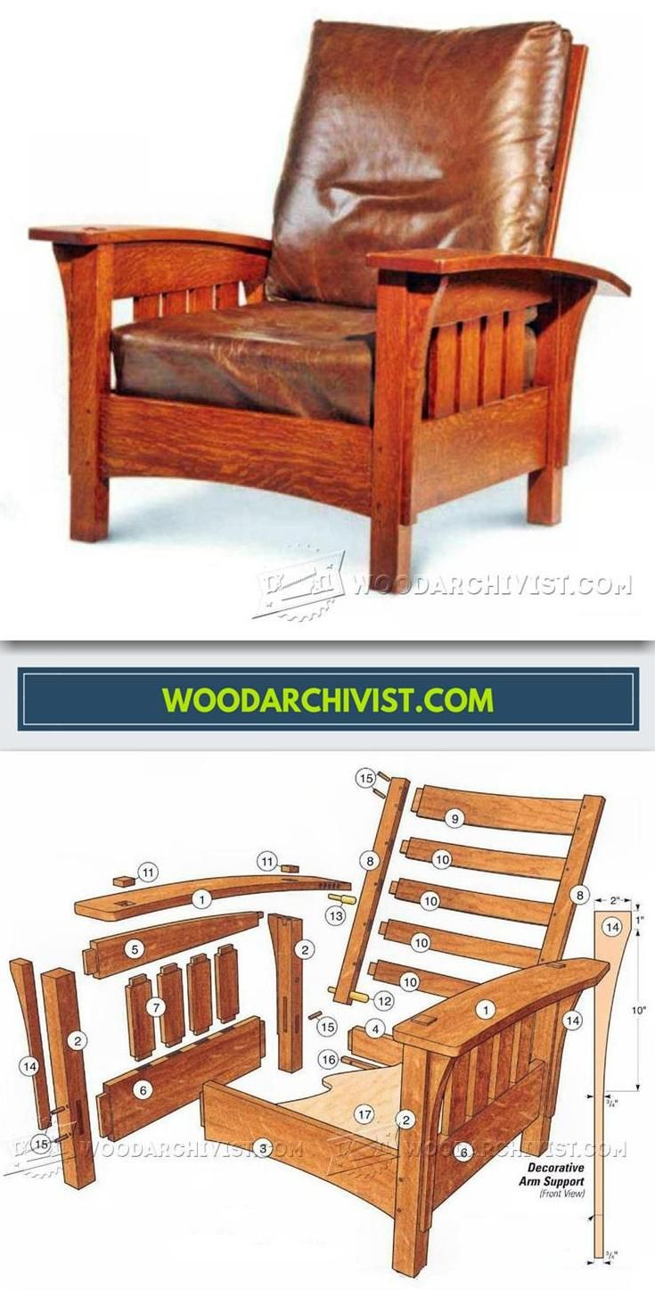 Classic Morris Chair Plans Furniture Plans And Projects