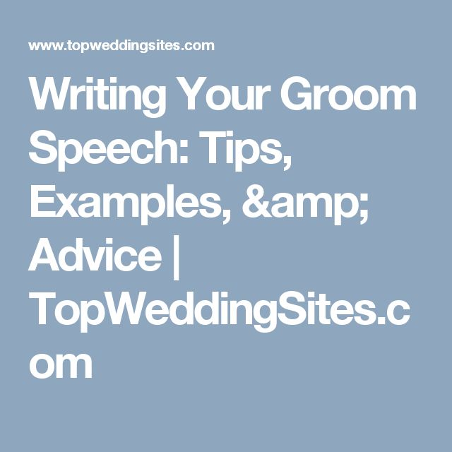 Writing Your Groom Speech: Tips, Examples, & Advice | TopWeddingSites.com