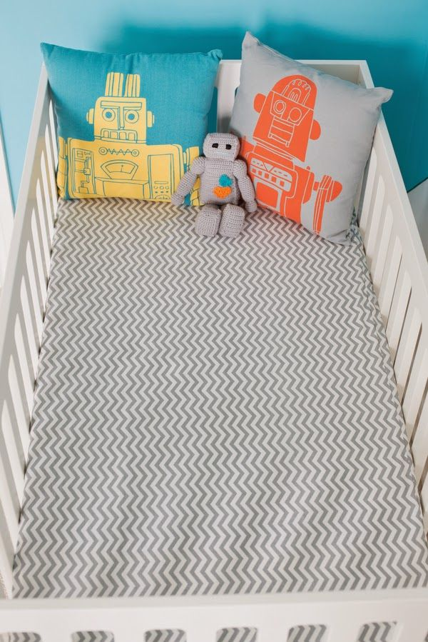 Modern science & robot baby nursery | The Frosted Petticoat