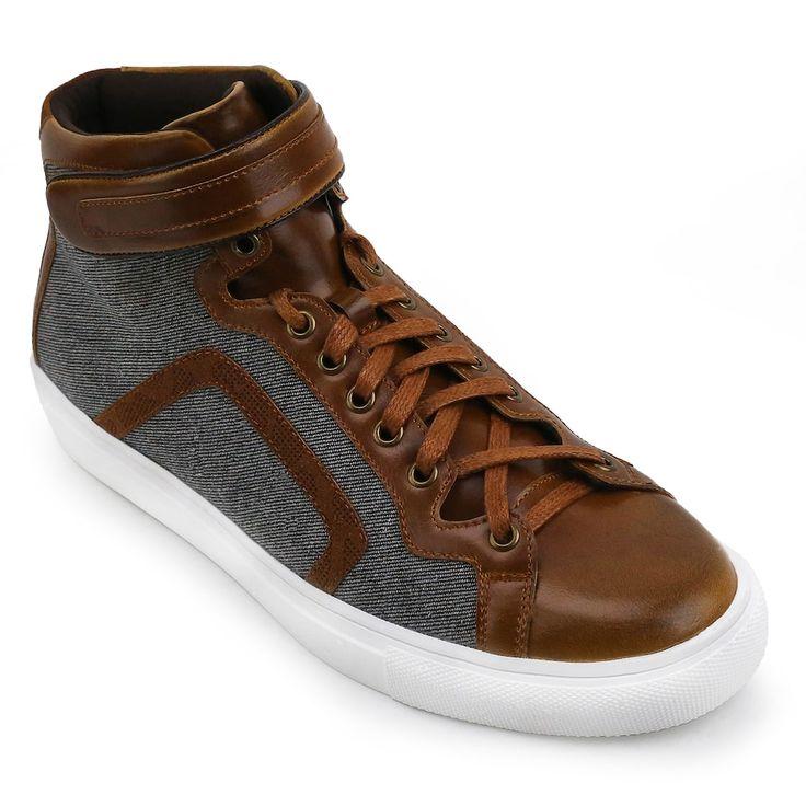 XRay Ditchman Men's High Top Sneakers, Size: medium (10.5), Beig/Green (Beig/Khaki)