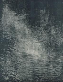 Franz Gertsch | Schwarzwasser I, 1990-91 | woodcut
