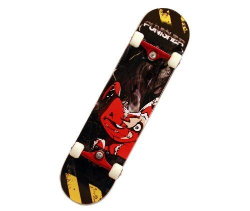 Punisher Teddy Complete Skateboard, Blac...