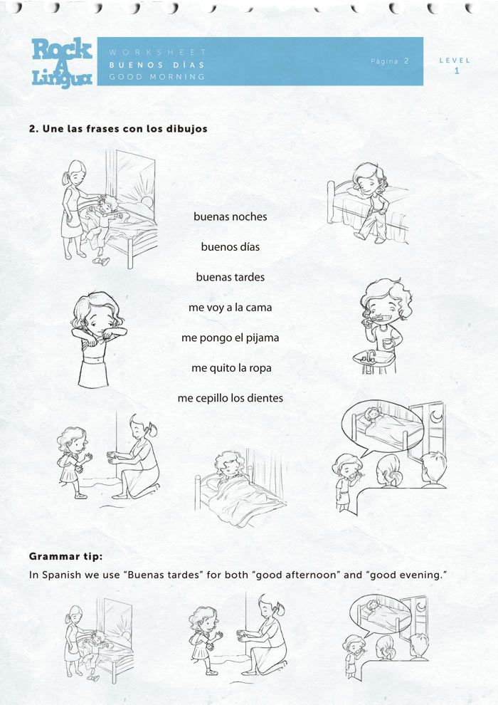 spanish greetings and daily routines spanish worksheets