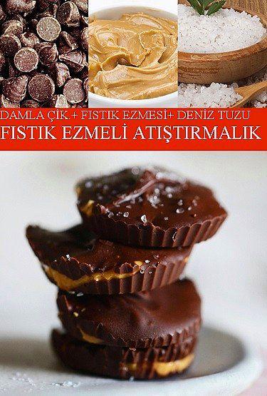 Damla Çikolata, Fıstık Ezmesi, Deniz Tuzu = Fıstık Ezmeli Atıştırmalık