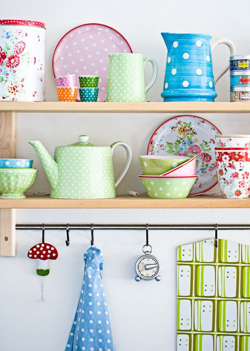 Open Shelving - DON'T While we love looking at neatly arranged dishware on an open shelf, the reality can be a bit frustrating. Namely, due to all the dust and grease that end up on the carefully-arranged plates, bowls, mugs and glassware.