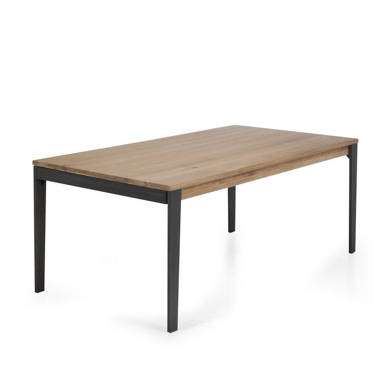 Table de repas en acier et ch ne naturel eclypse tables rectangulaires - Table salon transformable table salle manger ...