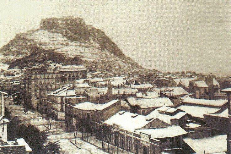 Alicante 1926. La gran nevada sobre la provincia, Llegó a nevar incluso en la ciudad de Alicante