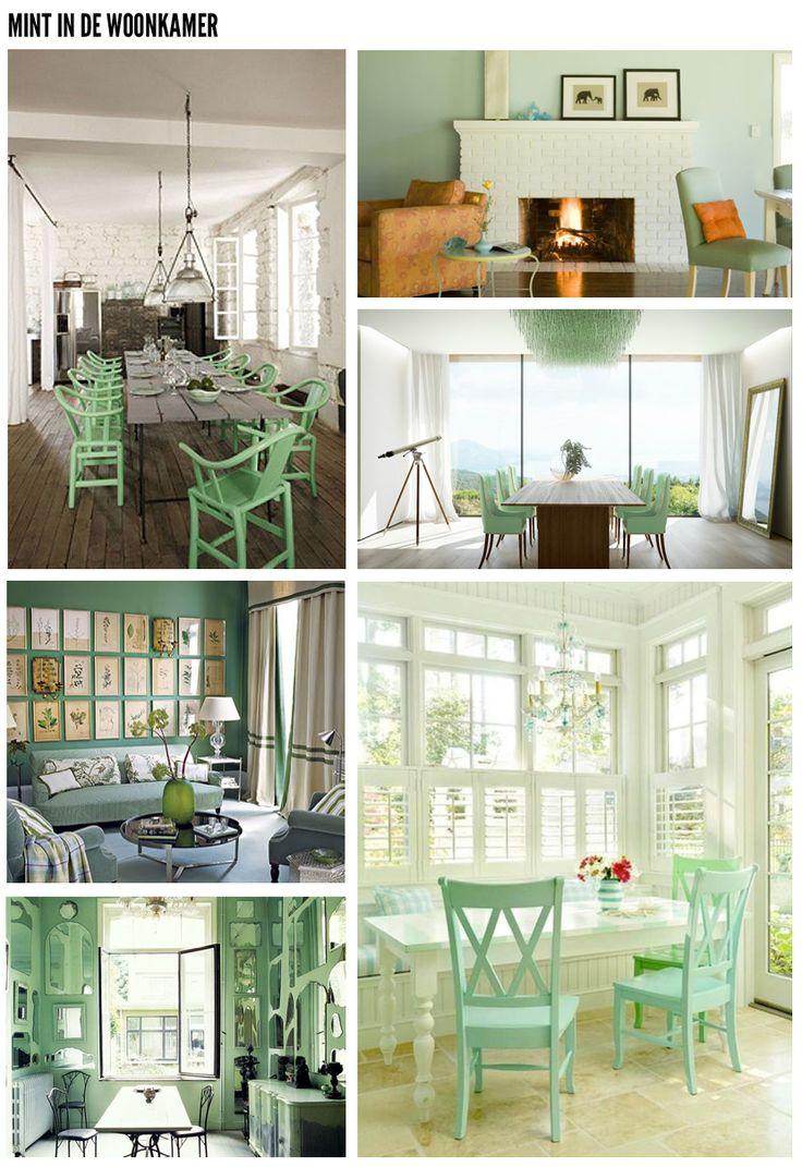 groen in de woonkamer: Keer Mint, Home, Fris Groen, Mint Inspiratie ...