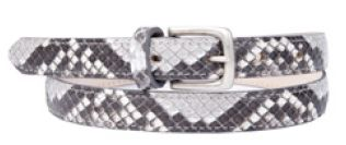 Buckles & Belts - Belt/Gürtel - New Collection 2016 - Pitone - Phyton Leather - roccia - grey - Design in SWITZERLAND made in ITALY https://www.facebook.com/BucklesBelts