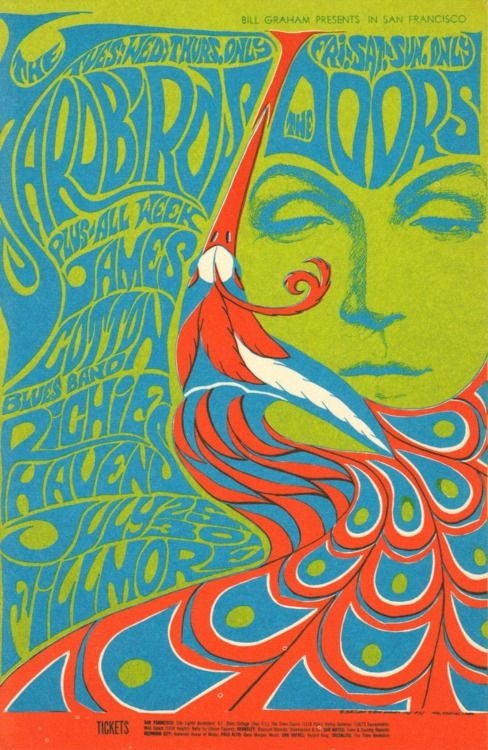 Bill Graham Presents The Yardbirds (July/25-27), The Doors /James Cotton Blues Band/Richie Havens (July/28-30), Fillmore Auditorium, July,25-30 - 1967