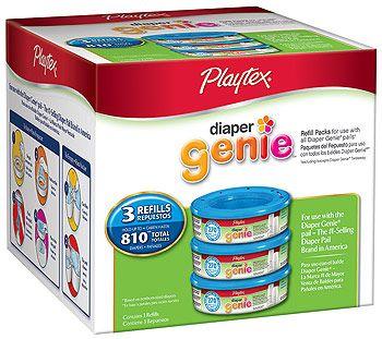 http://www.babytoys6months.com/category/diaper-genie-refill/ Playtex Diaper Genie Refill 3 Pack - 810 Count