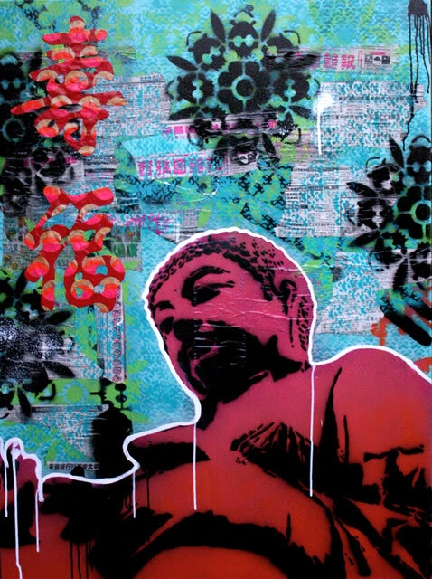 Buddha Stencil by Kim McCarthy aka SOULE of Urban Soule Design