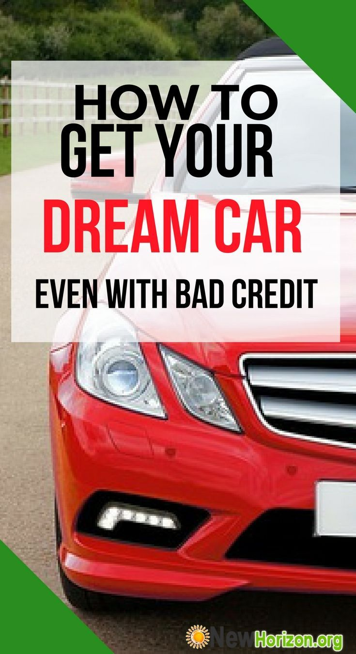 Get a used car loan with bad credit