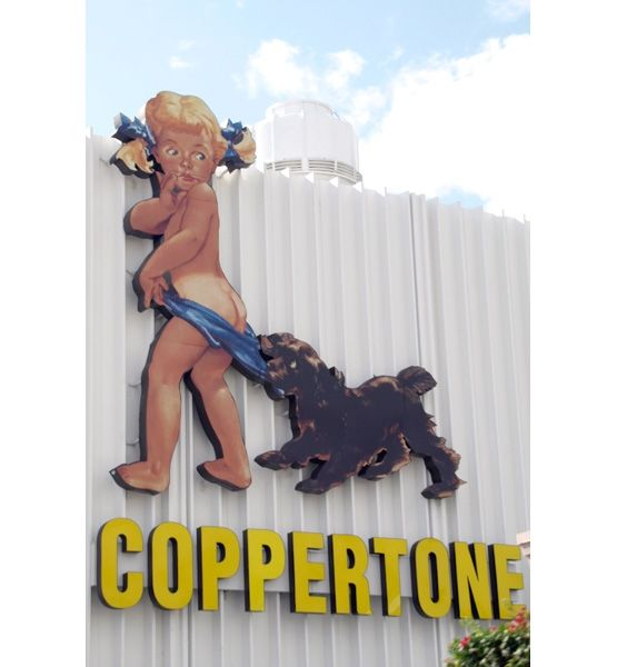*The Coppertone Baby 1960's  lol--no longer politically appropriate?!