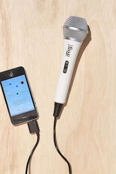 iphone karaoke microphone iphone karaoke microphone black and white 11970