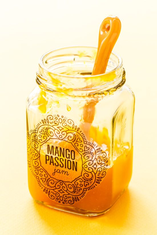 LOVE this tangy and tropical Mango Passion Fruit Jam (plus download the FREE printable canning labels!)