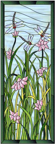 Free stained glass patterns, craft patterns, full-size designs