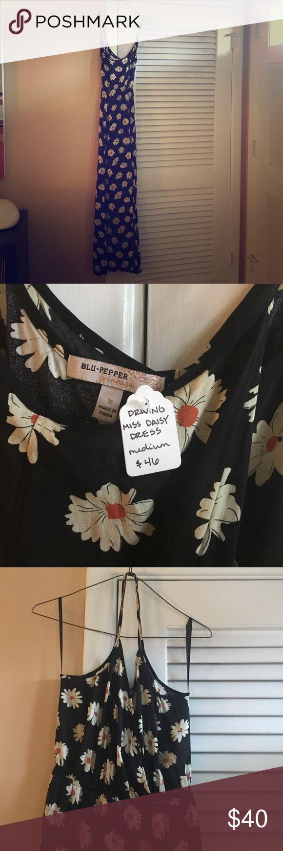 BLU PEPPER VINTAGE: driving miss daisy maxi dress size medium tags still attached Blu Pepper Dresses Maxi