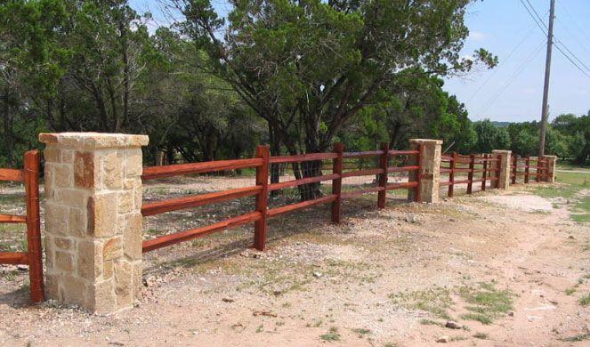 Stone Pillars Fence Google Search Landscape Cedar