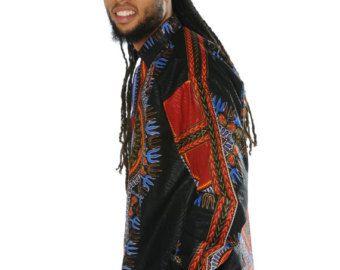 African Shirt - Allagi Shirt - Dashiki Shirt - Festival Shirt - Dashiki - Wax Shirt