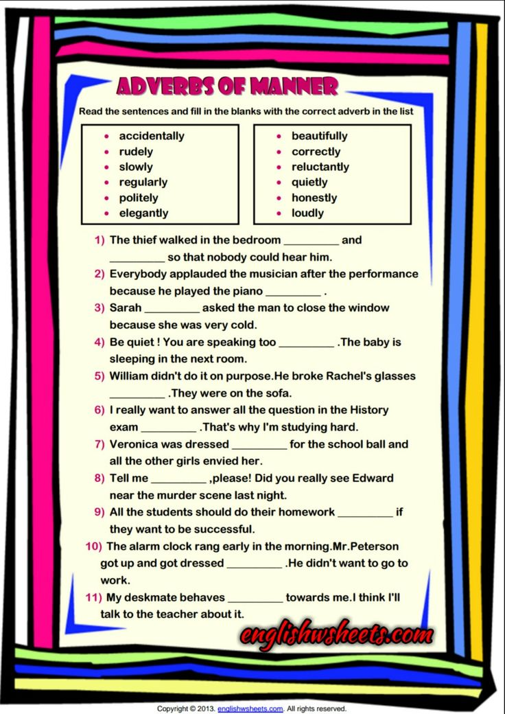 11 Best Adverbs Of Manner Images On Pinterest Adverbs English