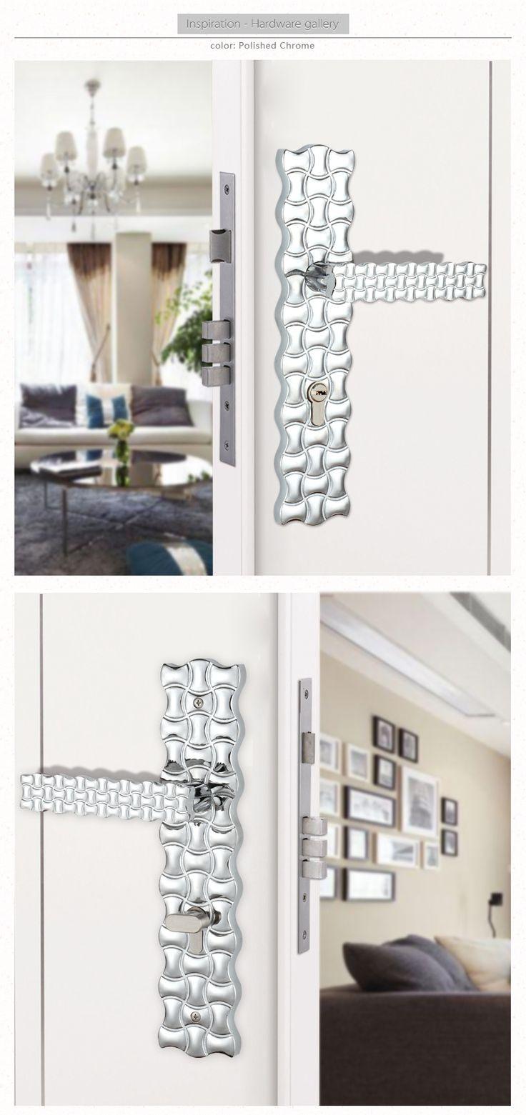 Bedroom door handle with lock and key