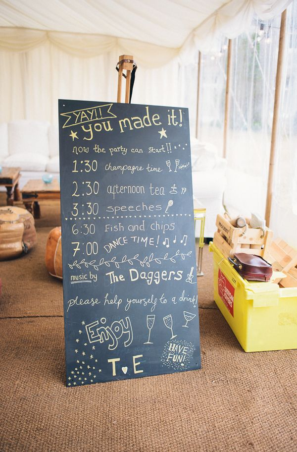DIY Seaside Wedding Order of The Day Sign http://bigbouquet.co.uk/