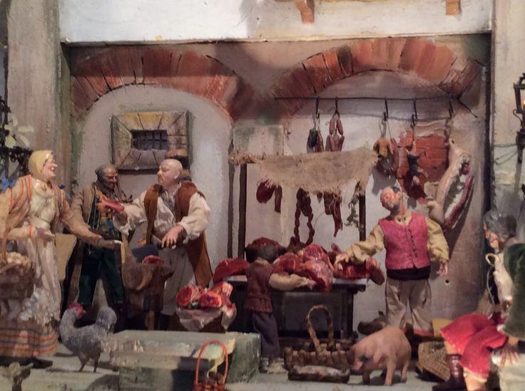 Belen napolitano en el Hogar Gallego de Madrid obra de Belen de Salas y Belen del Pino