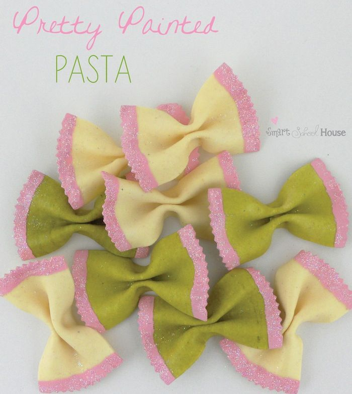 Smart School House: Pretty Painted Pasta (kids can do this and it's a great filler for vases!)
