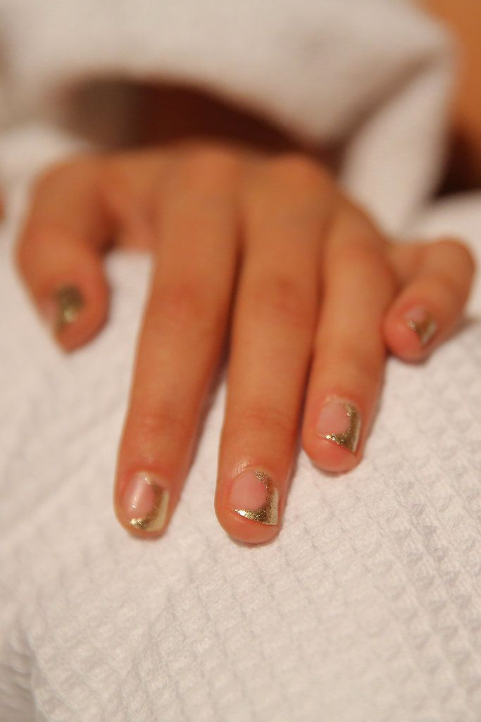 Edgy metallic nail art at the Zimmermann Spring 2015 show // 51 Spring Nail Art Ideas to Rock Off the Runway