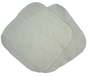 """RAYON FROM BAMBOO WIPES Stop using disposable wipes that are damaging to your baby's health and the environment! Our 8"""" x 8"""" 70% rayon from bamboo and 30% organic cotton wipes can be used with plain water or with a wipe solution for an easy clean up! These are available in a 6-pack. $13.30 CAD NO TAX www.dimplesandtoes.com"""