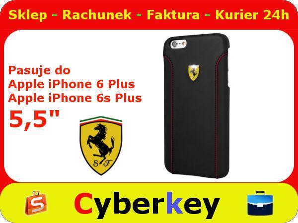 ETUI PLECKI SKÓRZANE Ferrari iPhone 6 Plus 5,5