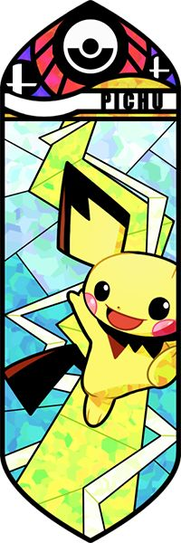 Fan art Pokémon en vitrail - Pichu