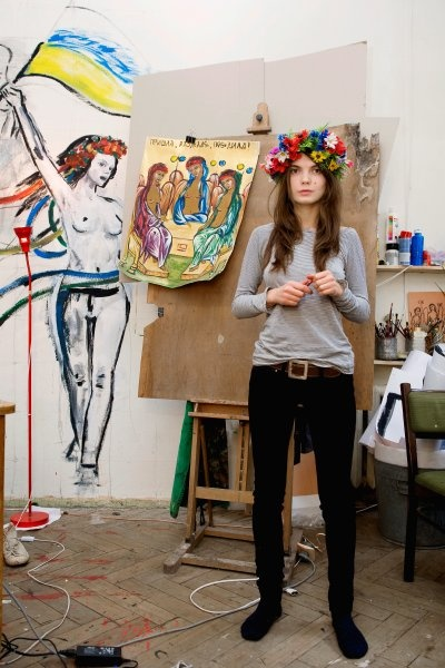Femen activist Oksana Shachko is a professional icon ...