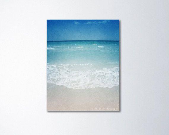 Beach canvas photography beach canvas art vertical by SpringBurst