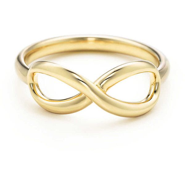 Tiffany Infinity Ring (2.295 BRL) ❤ liked on Polyvore featuring jewelry, rings, accessories, anelli, anillos, yellow gold infinity ring, infinity ring, 18k gold jewellery, gold infinity jewelry and gold rings