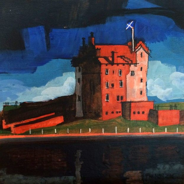 Stephen French Broughty Castle I Acrylics   Scottish Contemporary Art