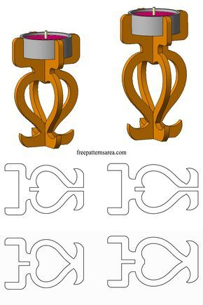 Plywood Candle Holder Laser Cutting Idea Files