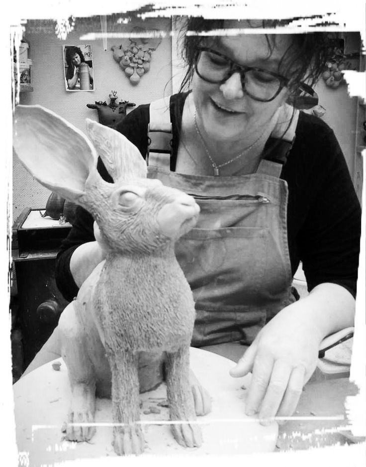 Hare in stoneware for my next exhibition ..