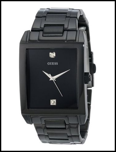 GUESS U12557G1 Black Plating/Diamond Watch