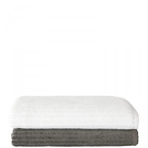 This pure cotton hand towel has a ribbed design and is available in two colours. #weylandts #entertaining