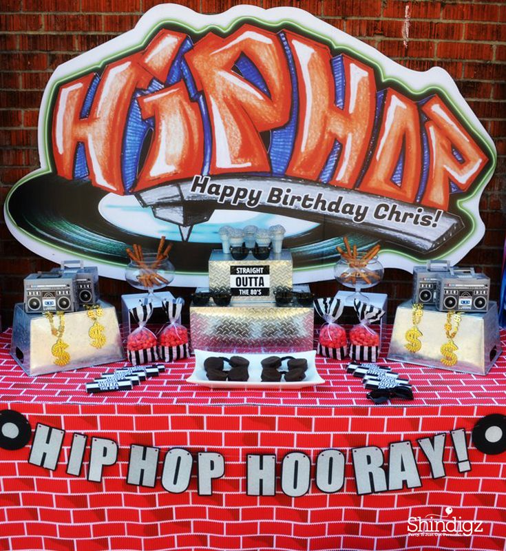 7 best hip hop birthday party images on pinterest for 90s decoration