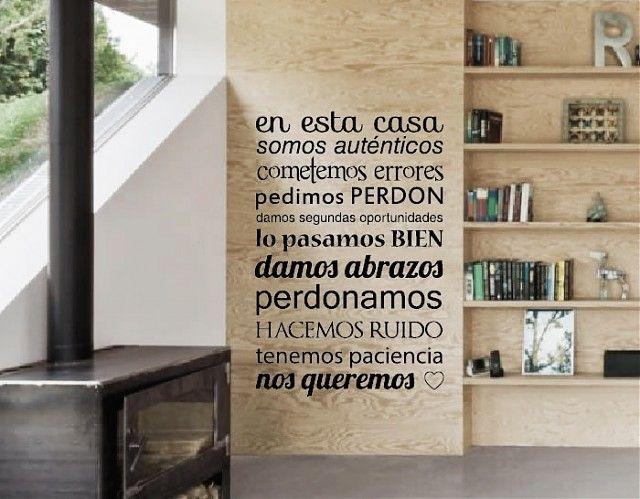 Ebre Vinil #Decoración #Interior con #Vinilos con #Textos En esta casa... 02873