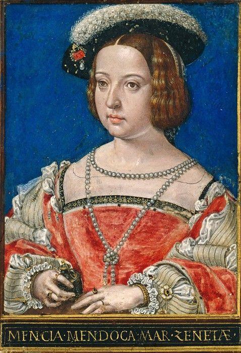 Бенинг, Симон (1484-1561) - Менсия де Мендоса, третья жена Генриха III, графа Нассау и Бреды. Часть 4