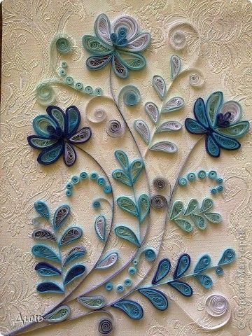 Картина, панно Квиллинг: Динь Бумага, Бумажные полосы. Фото 1