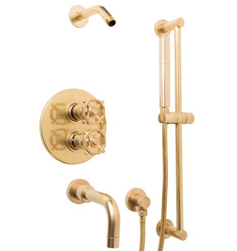 Tolson Thermostatic Tub Shower Set With Handheld C4678 Front runner for master shower hardware